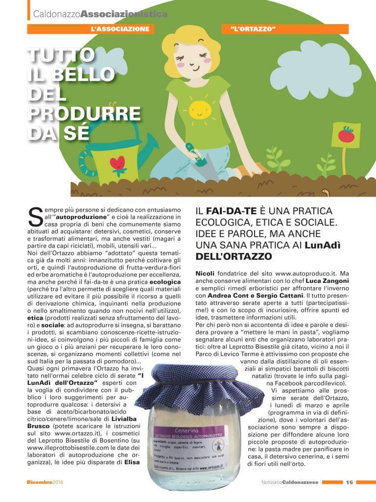 Articolo Caldonazzese autoproduzione 12-2016