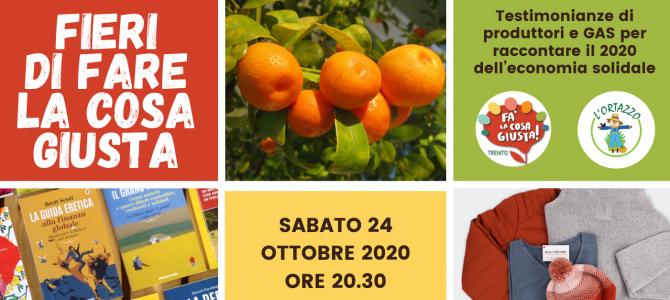 Fa' la Cosa Giusta! Trento 2020… online