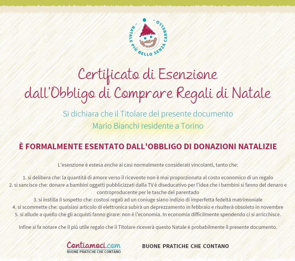 Immagine certificato contiamoci