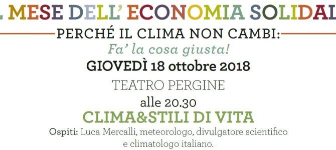Perché il clima non cambi – l'incontro con Luca Mercalli