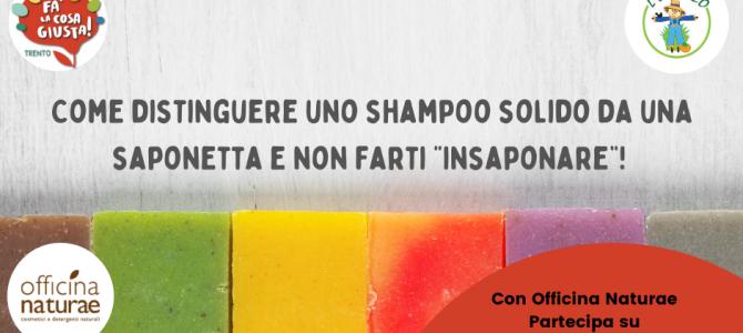Workshop online: come distinguere uno shampoo solido da una saponetta